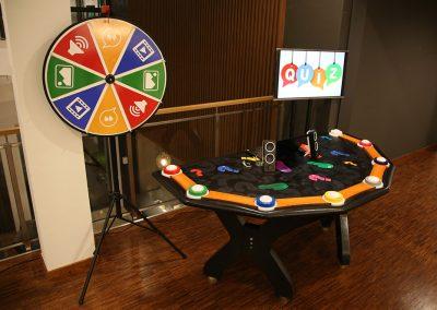 Impreza quiz teleturniej kasyno stół teleturniejowy quizowy grzybki kto pierwszy quiz show