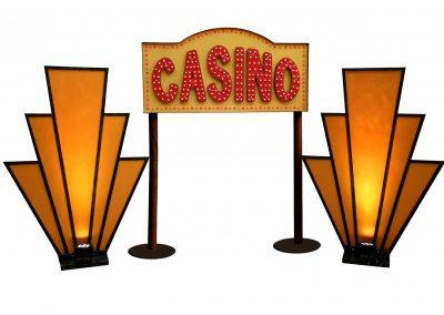Impreza Wielki Gatsby lata 20 lata 30 kasyno casino wachlarze złote